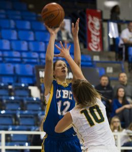 VANCOUVER,BC:JANUARY 23, 2016 -- UBC Thunderbirds University of REGINA during CIS Canada West women's basketball action at UBC in Vancouver, BC, January, 23, 2016. (Rich Lam/UBC Athletics Photo) ***MADATORY CREDIT***