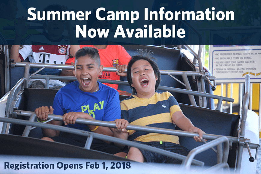 Summer Camp Info Now Available – 2018 – 2