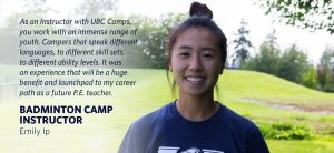 My Experience with UBC Camps: Emily Ip